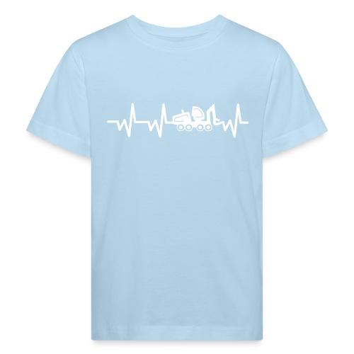 Forst | Herzschlag weiß - Kinder Bio-T-Shirt
