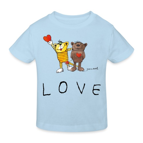 Janosch LOVE Schiftzug Tiger und Bär - Kinder Bio-T-Shirt
