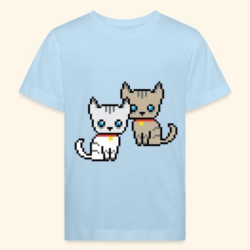 deux chats pixel - T-shirt bio Enfant