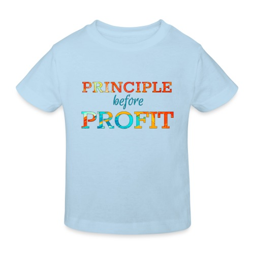 Principle Before Profit - Kids' Organic T-Shirt