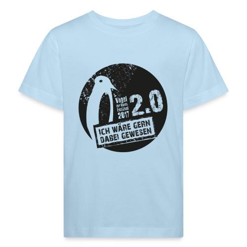 Logo_3_schwarz - Kinder Bio-T-Shirt