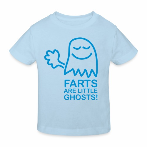 Farts are little ghosts (with text) - Kids' Organic T-Shirt