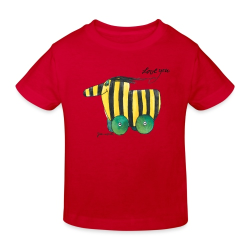 Janosch Tigerente Love you - Kinder Bio-T-Shirt