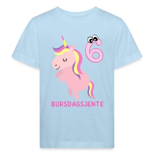 Bursdagsjente 6 år - Økologisk T-skjorte for barn