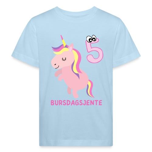 BURSDAGSJENTE 5 ÅR - Økologisk T-skjorte for barn