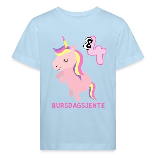 BURSDAGSJENTE 4 ÅR - Økologisk T-skjorte for barn