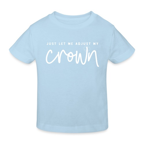 Crown white - Ekologisk T-shirt barn