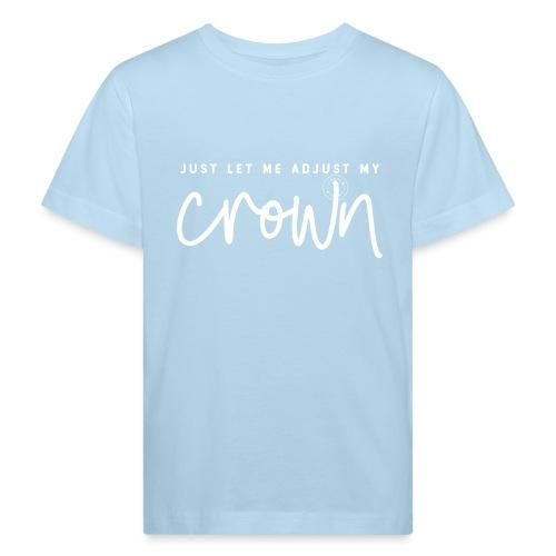 Crown white - Kids' Organic T-Shirt
