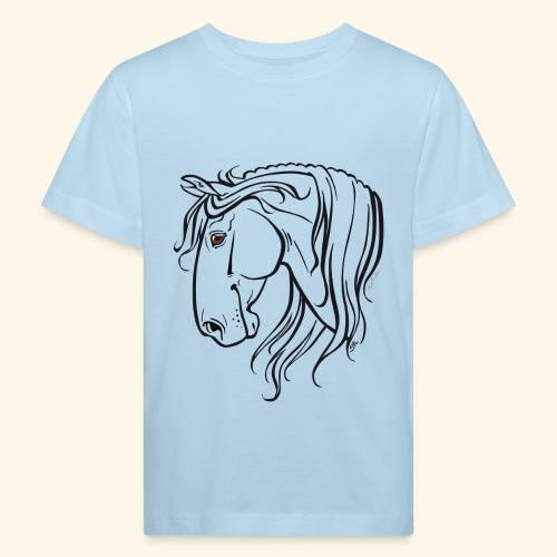 Cheval espagnol (noir) - T-shirt bio Enfant