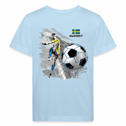 FP22F 16 SWEDEN FOOTBALL - Lasten luonnonmukainen t-paita