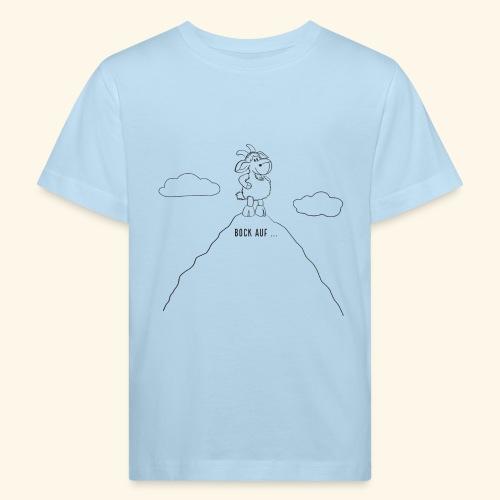 Schafbock: Bock auf ... - schwarz - Kinder Bio-T-Shirt