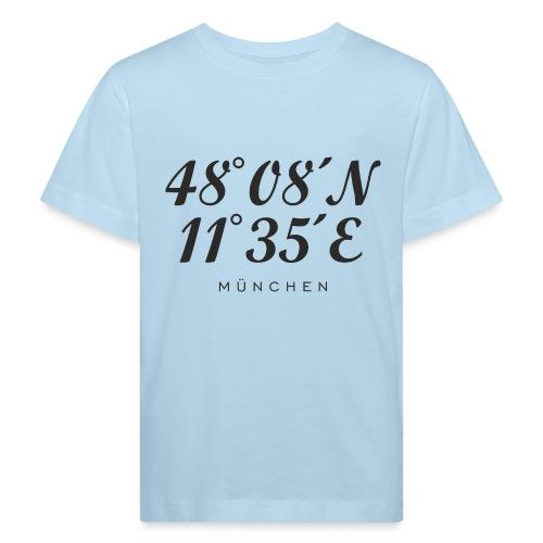 Münchener Koordinaten (Schwarz) München - Kinder Bio-T-Shirt