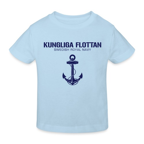 Kungliga Flottan - Swedish Royal Navy - ankare - Ekologisk T-shirt barn