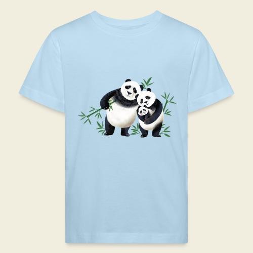 Pandafamilie Baby - Kinder Bio-T-Shirt