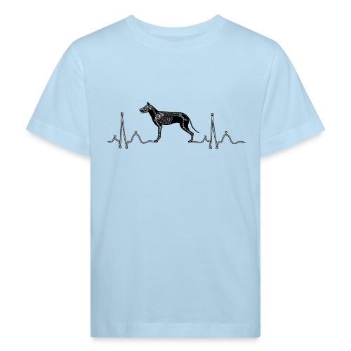 ECG met hond - Kinderen Bio-T-shirt