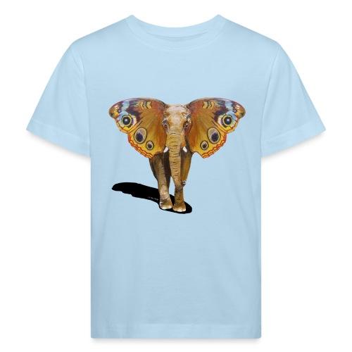 Schmetterling-Elefant - Kinder Bio-T-Shirt