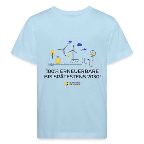 100% Erneuerbare 2030 - Kinder Bio-T-Shirt