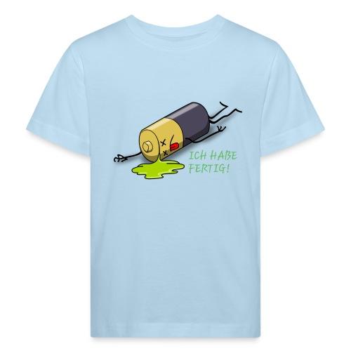Ich habe fertig - Kinder Bio-T-Shirt
