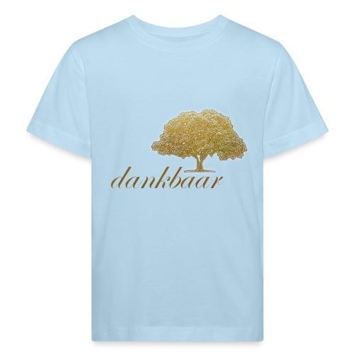 Dankbaar Boom Goud - Kinderen Bio-T-shirt
