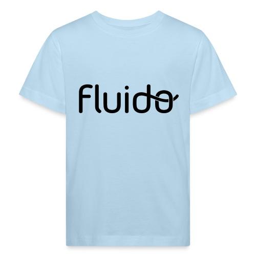 fluidologo_musta - Lasten luonnonmukainen t-paita