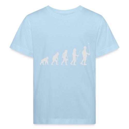 Evolution Stabführer weiß - Kinder Bio-T-Shirt