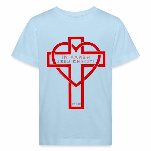 Im Namen JESU CHRISTI - rot - Kinder Bio-T-Shirt