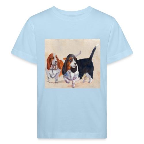 Basset hound_double-trot - Organic børne shirt