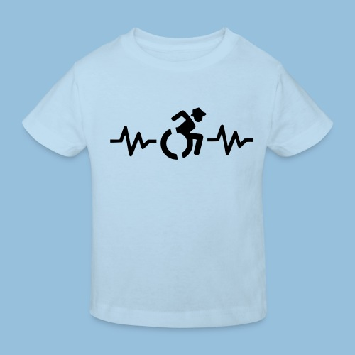 Wheelchairheartbeat1 - Kinderen Bio-T-shirt