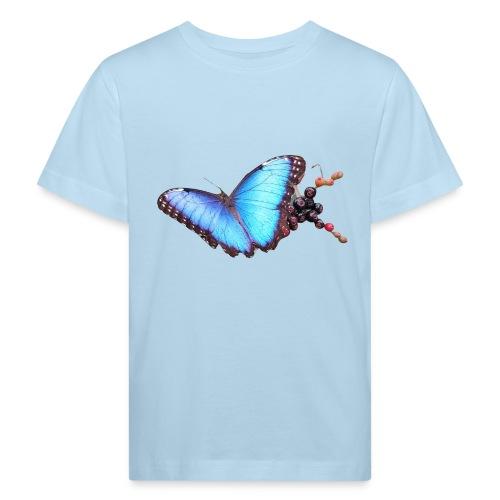 Morpho butterfly - Kinderen Bio-T-shirt