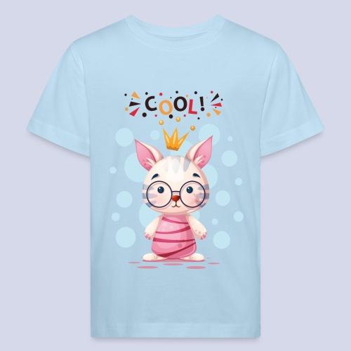 Nice Cat, Kitty Design for everyone - Kids' Organic T-Shirt
