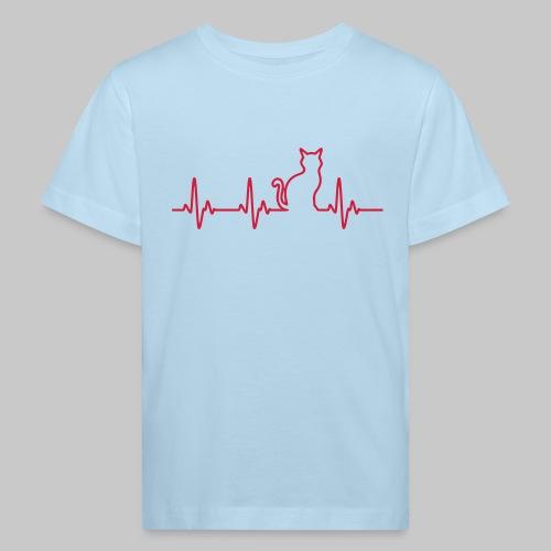 Ein Herz für Katzen - Kinder Bio-T-Shirt