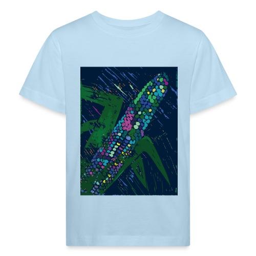 Mais blau - Kinder Bio-T-Shirt