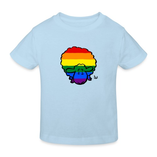 Regenbogen-Stolz-Schafe - Kinder Bio-T-Shirt