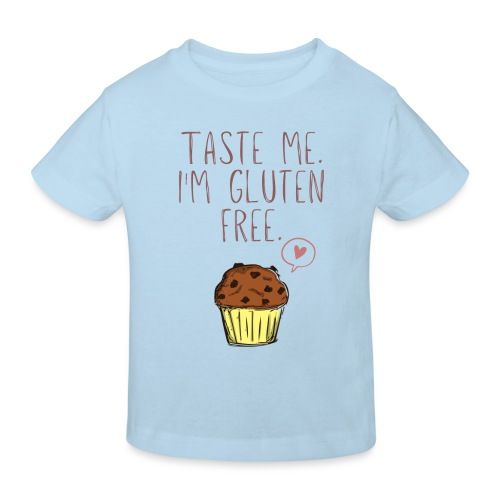 Taste me I'm gluten free - Kinder Bio-T-Shirt