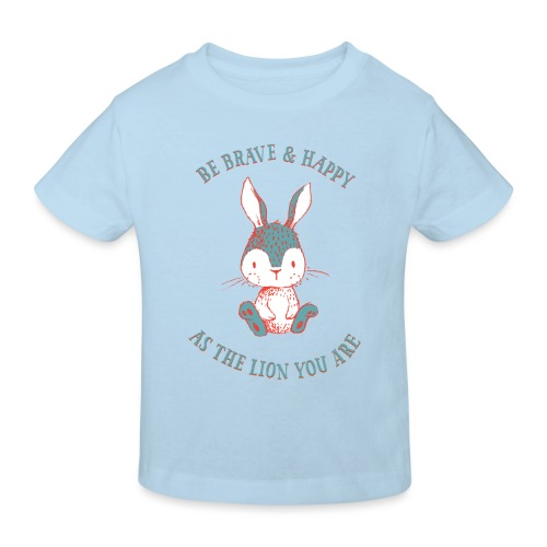 Brave rabbit - Kids' Organic T-Shirt
