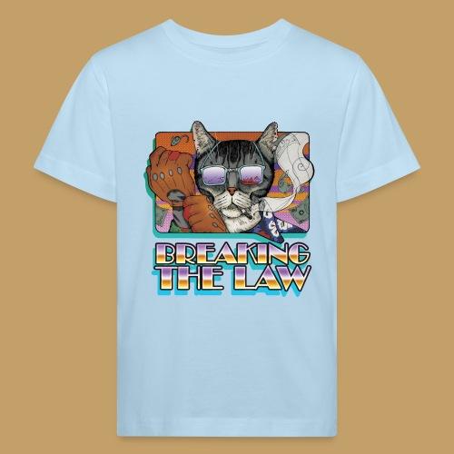 Crime Cat in Shades - Braking the Law - Ekologiczna koszulka dziecięca