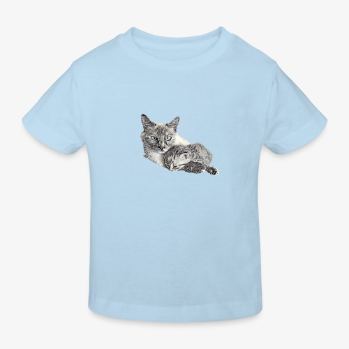 Snow and her baby - Kids' Organic T-Shirt
