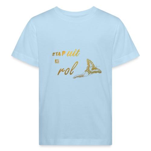 Stap uit je Rol Vlinder Goud - Kinderen Bio-T-shirt