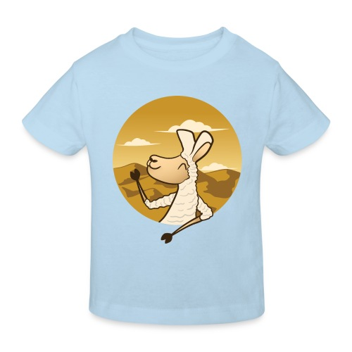 Waving Llama - Organic børne shirt
