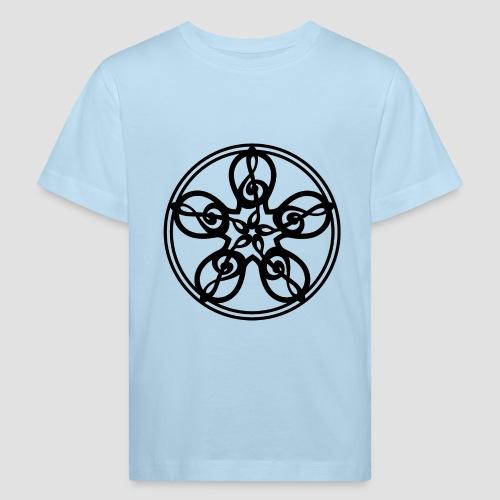 Treble Clef Mandala (black) - Kids' Organic T-Shirt