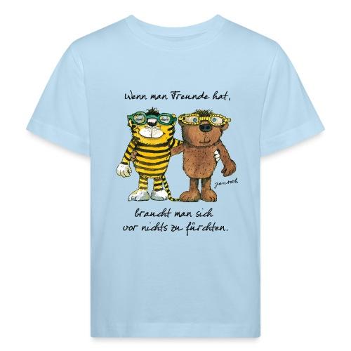 Janosch Tiger Und Bär Wenn Man Freunde Zitat - Kinder Bio-T-Shirt