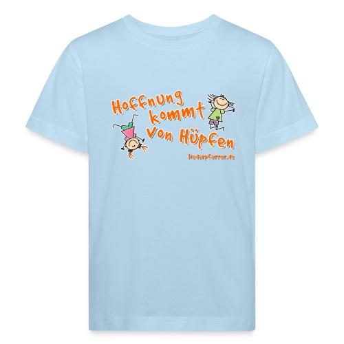 Hoffnung kommt von Hüpfen - Kinder - Kinder Bio-T-Shirt