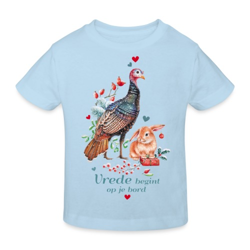 Peace begins on your plate - Kids' Organic T-Shirt