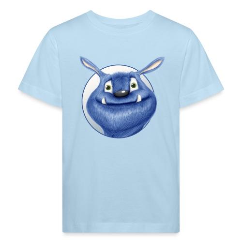 blaues Monster - Kinder Bio-T-Shirt