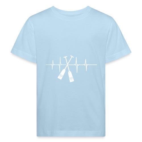 Drachenboot Paddel EKG Herzschlag - Kinder Bio-T-Shirt