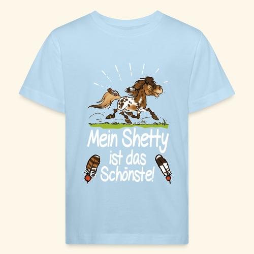 Mein Shetty das Schönste (Text weiss) - T-shirt bio Enfant