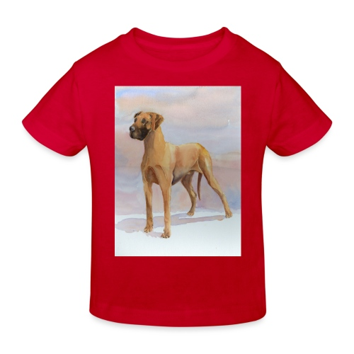 Great Dane Yellow - Organic børne shirt