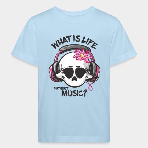 la musique est le crâne de la vie - T-shirt bio Enfant