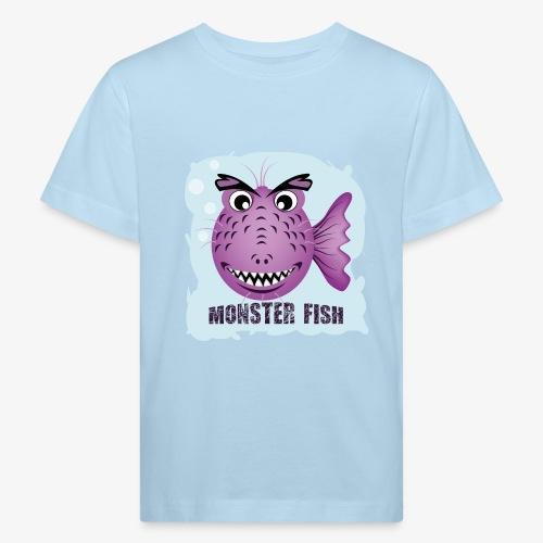 Monster Fish - Monstervis - Kinderen Bio-T-shirt