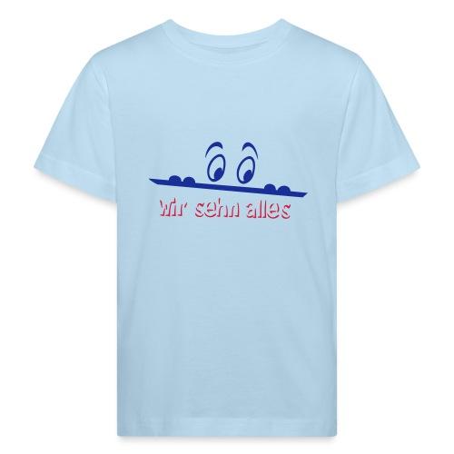 neugierige Augen sehen alles - Kinder Bio-T-Shirt